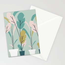 Modern Indoor Plants Stationery Cards