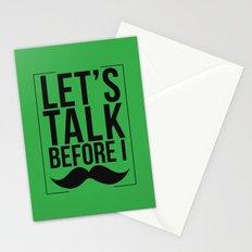 Let's Talk Moustache Stationery Cards