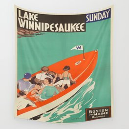 Vintage poster - Lake Winnipesaukee Wall Tapestry