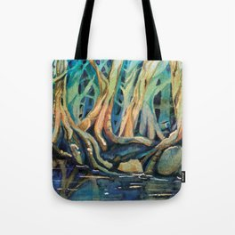 Kingfisher Forest Tote Bag
