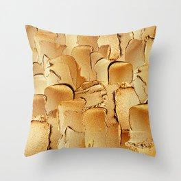 Gold Acryl Thick Metal Stripes Throw Pillow