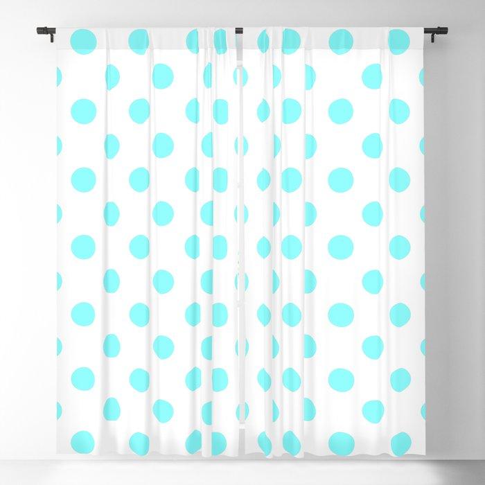 Polka Dots Aqua White Pattern