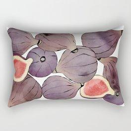 figs still life botanical watercolor Rectangular Pillow