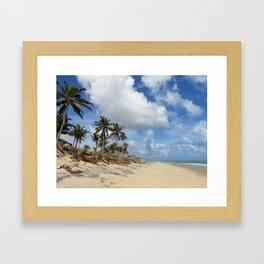 Tropical beach Framed Art Print