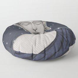 Buddha with stars Floor Pillow