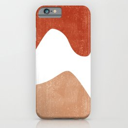 Terracotta Art Print 7 - Terracotta Abstract - Modern, Minimal, Contemporary Print - Burnt Orange iPhone Case