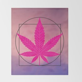 vitruvian marijuana Throw Blanket