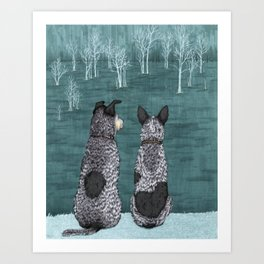 The Lookouts (Cattle Dogs) Art Print
