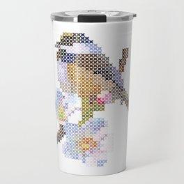 Digital embroidery bird design Travel Mug