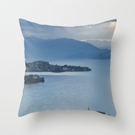 Majestic Lake Maggiore Throw Pillow
