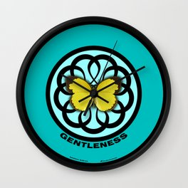 Fruit of the Spirit, Gentleness (Sea Blue) Wall Clock