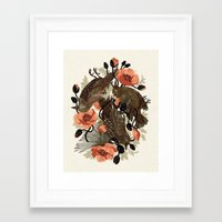 zombie Framed Art Prints featuring Spangled & Plumed by Teagan White