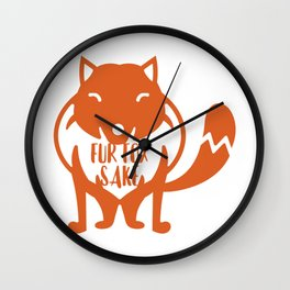 Fur Fox Sake Wall Clock