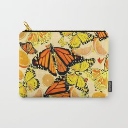 YELLOW MONARCH BUTTERFLY  & ORANGES MARMALADE Carry-All Pouch