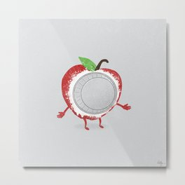 Apple Pied Metal Print