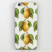 pear iPhone & iPod Skins featuring Pear by Grace