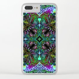 Orchid Psychedelic Mandalaesquad Clear iPhone Case
