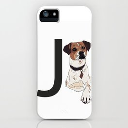 J is for Jack Russell Terrier Dog iPhone Case