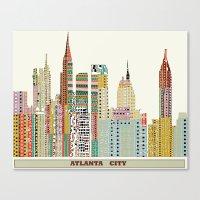 atlanta Canvas Prints featuring Atlanta by bri.buckley
