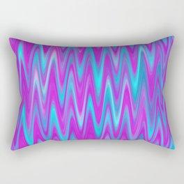 WAVY #1 (Purples, Violets & Turquoises) Rectangular Pillow
