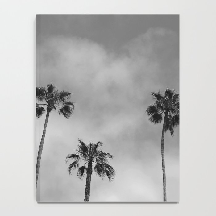 Black and White Palm Tree Notebook