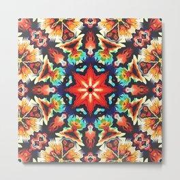 Ornate Mandala Motif Metal Print