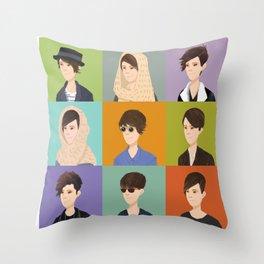 Tegan and Sara: Montage Throw Pillow