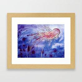 Medusa Jellyfish Framed Art Print
