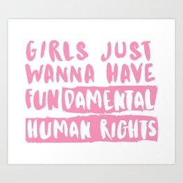 Fundamental Human Rights Art Print