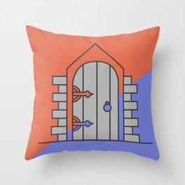 Simple Door Throw Pillow