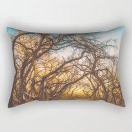 Illuminated New Mexican Trail Rectangular Pillow