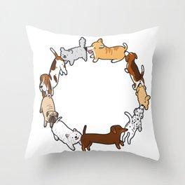 Social Circle Throw Pillow