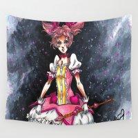 madoka magica Wall Tapestries featuring Madoka Magica by Refrigerator-Art