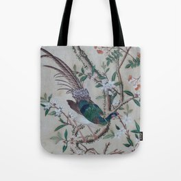Antique Chinoiserie with Bird Tote Bag