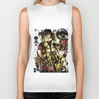 mad hatter Biker Tanks featuring MAD ALICE: HATTER by Chandelina