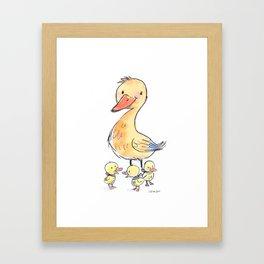 MamaDuck Framed Art Print