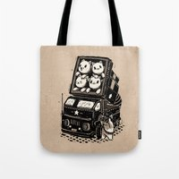cats Tote Bags featuring Cats by Ronan Lynam