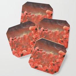 Poppy field rememberance Coaster