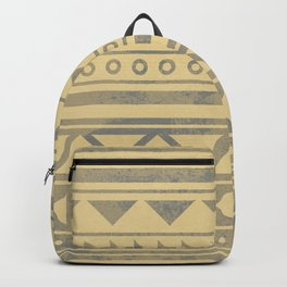 Ethnic geometric pattern with triangles circles and lines Backpack