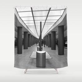Tube Station Brandenburg Gate in Berlin Shower Curtain