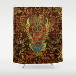 Garuda - bird of Vishnu Shower Curtain