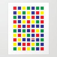 waldo Art Prints featuring Square's Waldo by Jonah Makes Artstuff