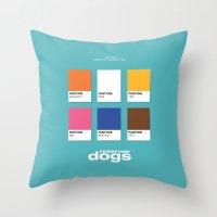 reservoir dogs Throw Pillows featuring Reservoir Dogs by Rahma Projekt