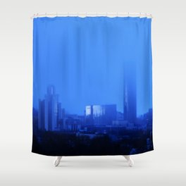 Blue rain Shower Curtain