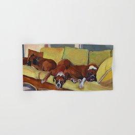 Boxer Dog Siesta Hand & Bath Towel
