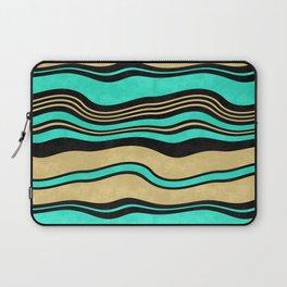 Horizontal wavy stripes. Laptop Sleeve