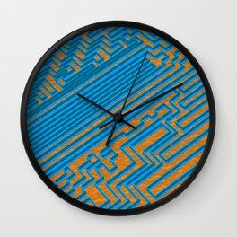 The Great Maze at The Temple of Stairs Wall Clock