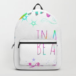 Be A Unicorn In A Field Of Horse Watercolor Painting 2 Backpack