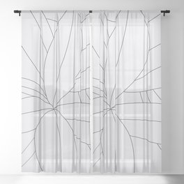 Flora Illustration 01 Sheer Curtain