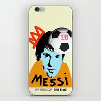 messi iPhone & iPod Skins featuring Messi by SNACKONART